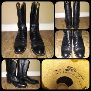 Justin Black Cowboy Boots